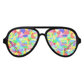 色のサングラスの円 アビエーターサングラス