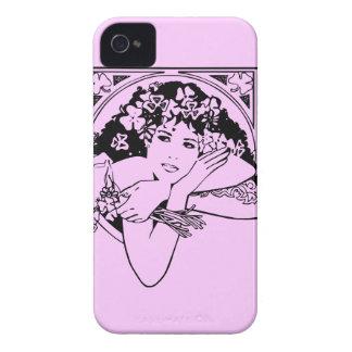 色のシャムロックの女の子 Case-Mate iPhone 4 ケース