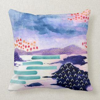 色のスコットランドの水彩画のクッションのBalmaha クッション