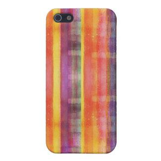 色のストライプパターン iPhone 5 カバー