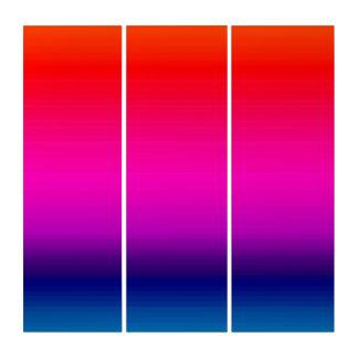 色のスペクトル、赤、紫色、青いトリプティクの芸術 トリプティカ