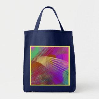 色のスラッシュのしぶきのおもしろいの抽象芸術の再使用可能な濃紺 トートバッグ