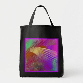 色のスラッシュのしぶきのおもしろいの抽象芸術の再使用可能な黒 トートバッグ