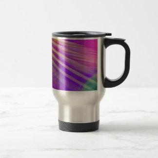色のスラッシュのしぶきのおもしろいの粋ないくじなしのガーリーな抽象芸術 トラベルマグ