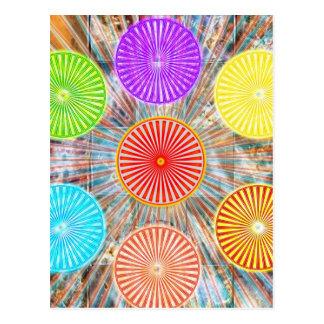 色のセラピーのグラフィック: 治療エネルギーチャクラ ポストカード