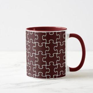色のパズルの部分 マグカップ