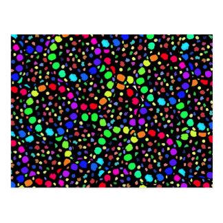 色のパレット ポストカード