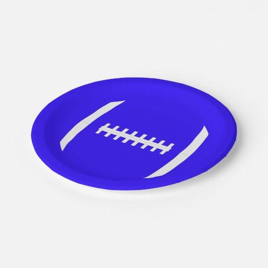色のフットボールのレースのチームパーティーのプレートを選んで下さい ペーパープレート