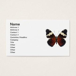 色のブラウンの蝶 名刺
