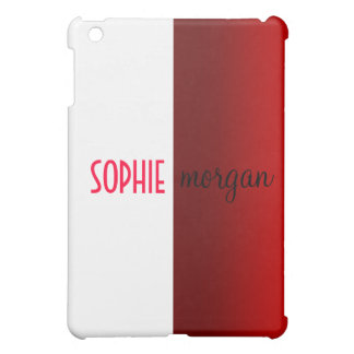 色のブロックの赤と白の名前入りなiPadの箱 iPad Mini Case