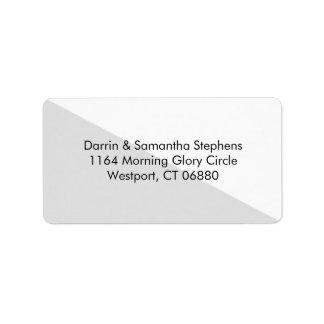 色のブロック-灰色の名前入りな住所シール ラベル