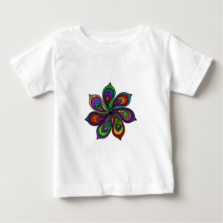 色のペイズリーの風車 ベビーTシャツ