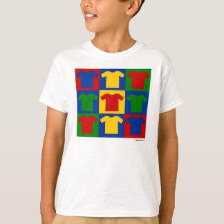 色のポップアートはTシャツをからかいます Tシャツ