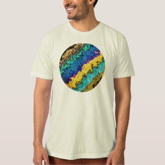色のマクロ分子 Tシャツ