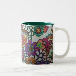 色のマグのしぶき ツートーンマグカップ