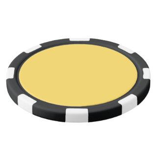 色のマスタード ポーカーチップ