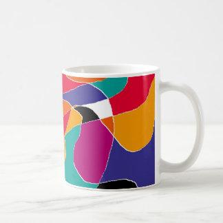 色のモザイク コーヒーマグカップ