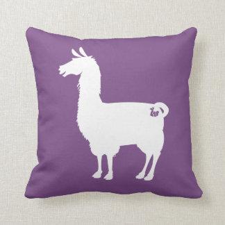 色のラマの枕の白 クッション