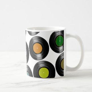 色のレコードパターン コーヒーマグカップ