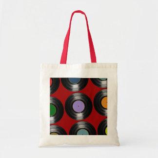 色のレコードパターン トートバッグ
