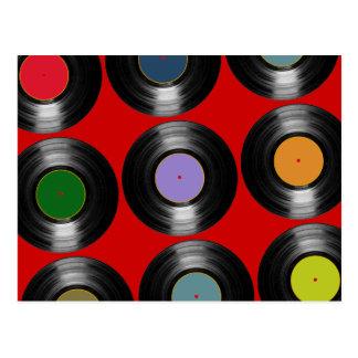 色のレコードパターン ポストカード