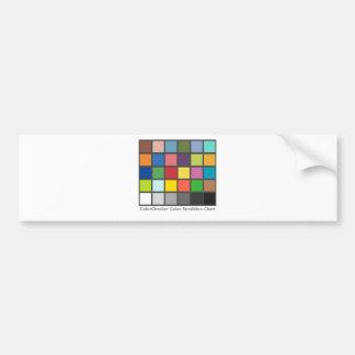色のレジ係のテーブル バンパーステッカー