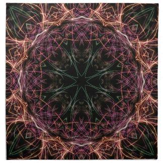 色の万華鏡のように千変万化するパターンのアメリカ人のMoJoのナプキンのくもの巣 ナプキンクロス