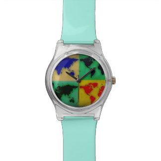 色の世界地図 腕時計