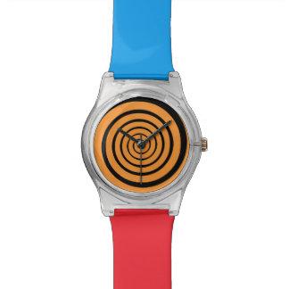 色の催眠性の螺線形時間 腕時計