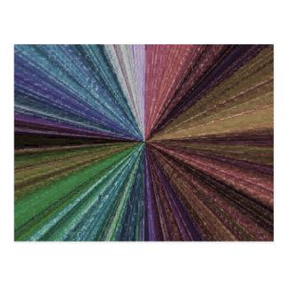 色の円の虹の配列2 ポストカード