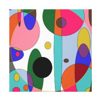 色の円 キャンバスプリント