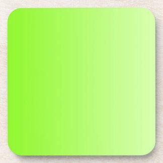 色の勾配だけ-ネオンの緑 コースター