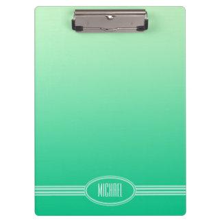 色の勾配だけ-海の緑 + あなたの文字 クリップボード
