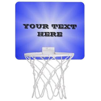 色の勾配の星だけ-ロイヤルブルー + あなたの文字 ミニバスケットボールネット