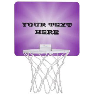 色の勾配の星だけ-紫色 + あなたの文字 ミニバスケットボールネット
