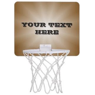 色の勾配の星だけ-茶色 + あなたの文字 ミニバスケットボールネット