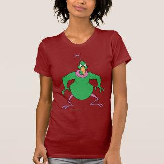 色の即刻の火星人 Tシャツ