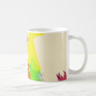 色の喜び。 夏はマグを着色します。 抽象美術 コーヒーマグカップ