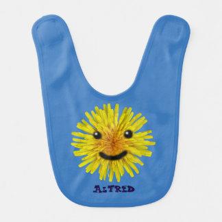 色の幸せで黄色い夏のタンポポの花 ベビービブ
