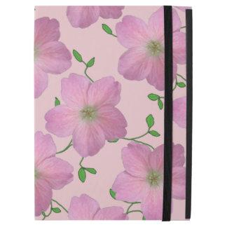 """色の庭ピンクのゼラニウムの花 iPad PRO 12.9"""" ケース"""