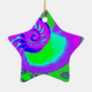 色の成長、オウムガイの貝 セラミックオーナメント