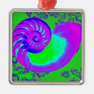 色の成長、オウムガイの貝 メタルオーナメント