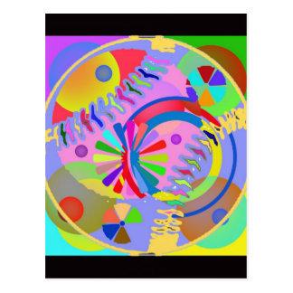 色の抽象的なパレット ポストカード