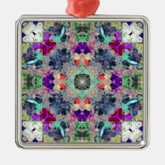 色の抽象的な対称 メタルオーナメント
