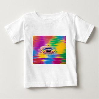 色の抽象的な色のしぶき ベビーTシャツ