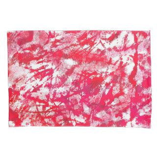 色の抽象的な赤と白の背景 枕カバー