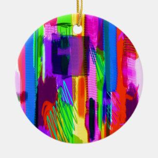 色の抽象芸術(15) セラミックオーナメント