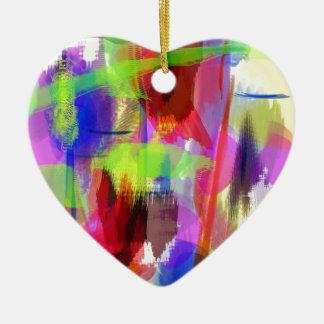 色の抽象芸術(8) セラミックオーナメント