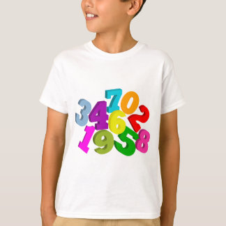 色の数学数 Tシャツ