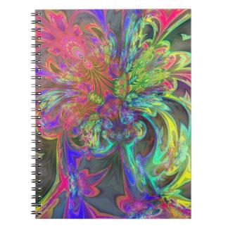色の明るい破烈-サケ及びインディゴDeva ノートブック